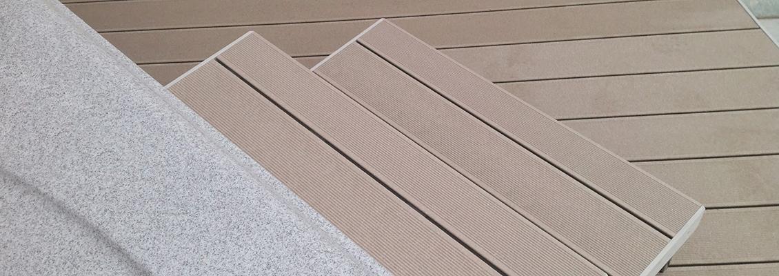 Kombination: WPC Terrasse mit Stufen