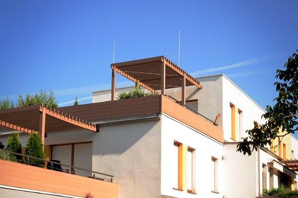mehrstufige Terrasse mit Panorama